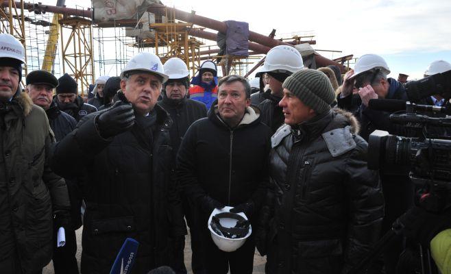 Рустам Минниханов и Виталий Мутко посетили строящийся стадион «Самара-Арена»